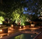 Biến không gian trở nên lung linh hơn với đèn chiếu sáng sân vườn