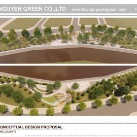 Thiết kế công viên bờ sông quận 12