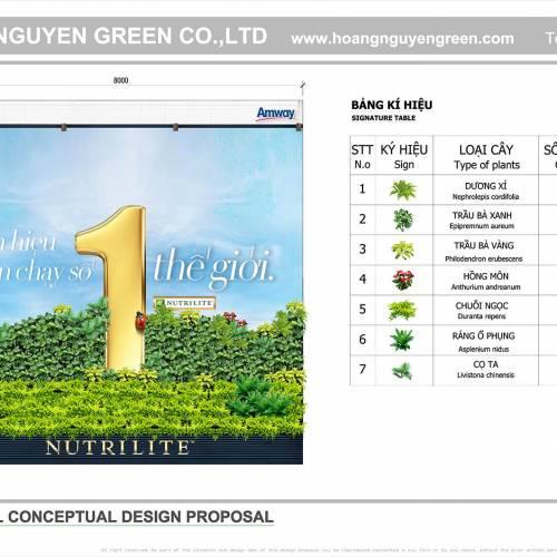 Thiết kế tường xanh Công ty THHH Amway Việt Nam