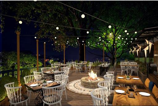 Nhà hàng sân vườn kiểu châu âu