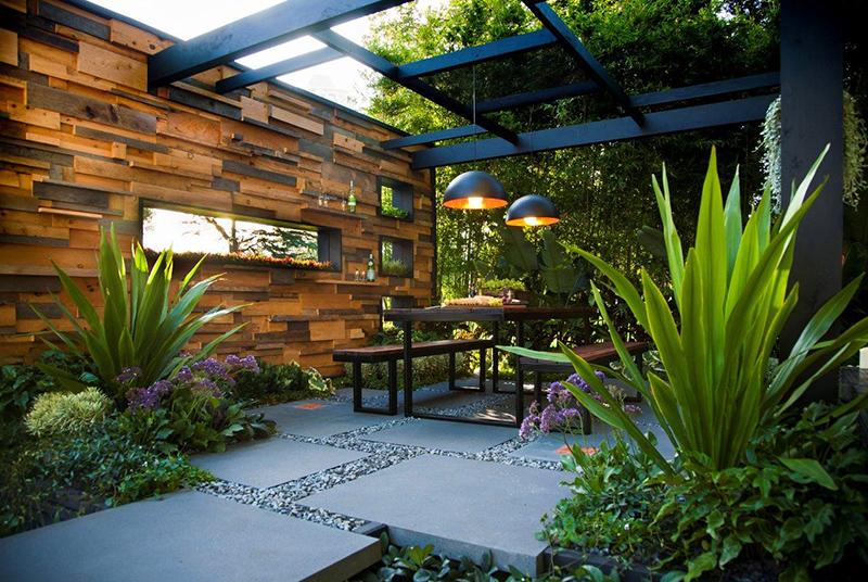 thiết kế thi công cảnh quan sân vườn hiện đại