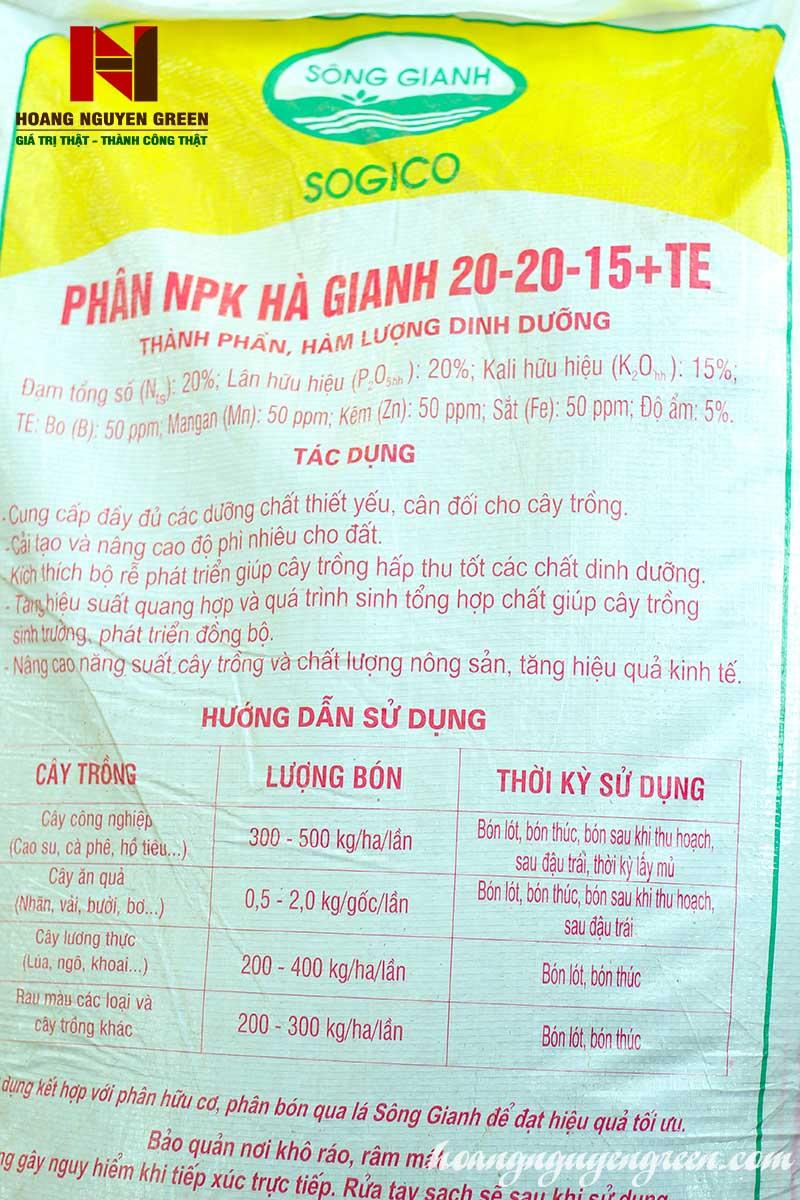 Phân Bón NPK Hà Giang